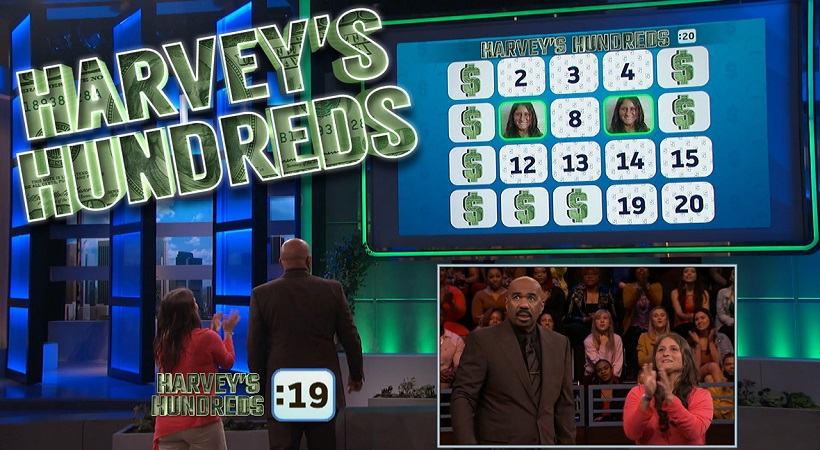Harvey's Hundreds: Lindsey Takes On Bonus Round Without Help From The Audience | Steve Harvey